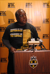 """""""We know that the fight isn't over. And together we will continue fighting until UPMC does right by our city."""" - Ron Oakes"""